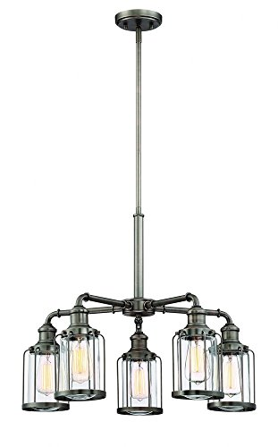 Designers Fountain 91385-SCB Anson 5 Light Chandelier