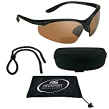 Motorcycle HD Vision Blue Blocker Bifocal Sunglasses 1.50 for Men and Women. Z87.1 Safety Lenses, Hard Case and Sunglass String.
