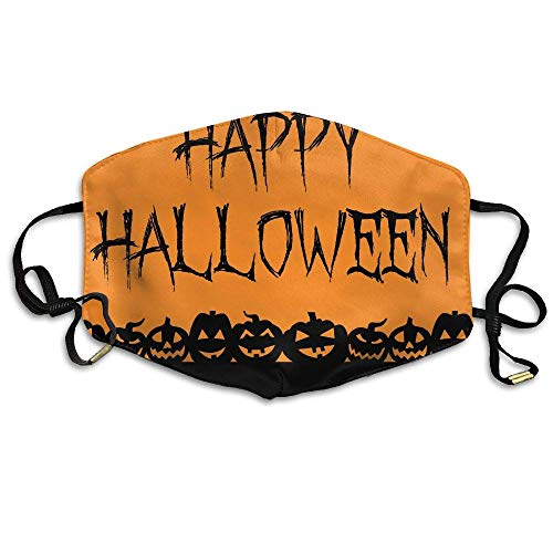 SGBTJKU Halloween Signs Happy Halloween Anti Germs Breathable Health Anti Pollution Mouth -
