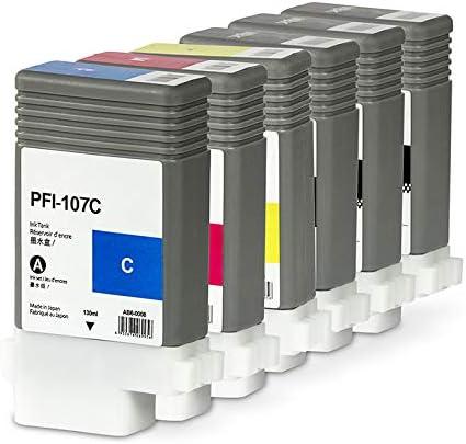 Set Cartucho de Tinta 6 PFI de 107 (CMYK + 2 x MBK) Compatible para Canon imagePROGRAF 670 770: Amazon.es: Oficina y papelería