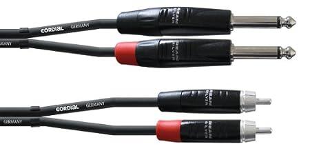 Cordial CIU 6 PC 6.3 mm, mono, sim/étrico Cable RCA a jack