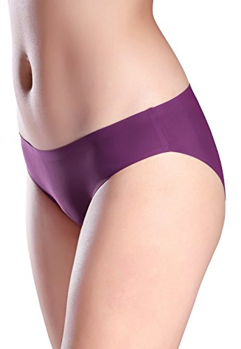d4298c29875 Wealurre Seamless Underwear Invisible Bikini No Show Nylon Spandex Women  Panties(R