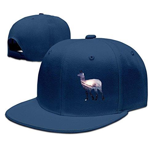 Unisex Galaxy Universe Funny Llama Snapback Flat Cap Peak Fit Hat Navy - Playstation Gift Card Canada