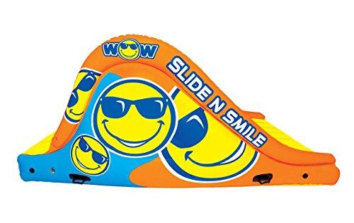 WoW Watersports 18-2000 Slide N Smile Floating 2 Lane Waterslide, 9 Feet Long by WoW Sports (Image #1)