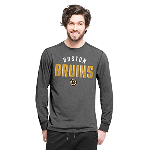 - '47 NHL Boston Bruins Men's Forward Long Sleeve Tee, Shift Black, Large