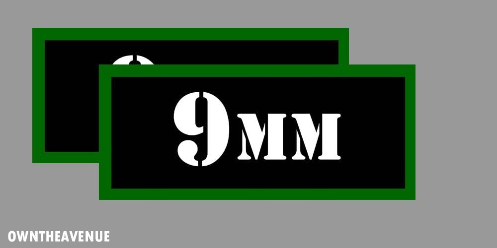 """7.62 X 25 Ammo Can 4x Labels Ammunition Case 3/""""x1.15/"""" stickers decals 4 pack"""