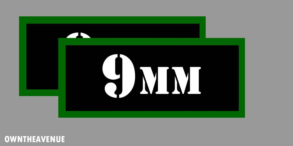 """AG PISTOL Ammo Can Labels for Ammunition Case 3/"""" x 1/"""" stickers decals 2 PACK"""