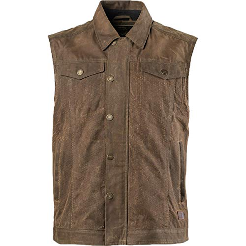 (Roland Sands Design Ramone Perforated Waxed Men's Street Motocycle Vest - Ranger/Medium)