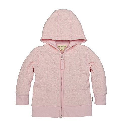Burt's Bees Baby Unisex Baby Sweatshirts, Lightweight Zip-Up Jackets & Hooded Coats, Organic Cotton, Blossom Quilted Jacket, 0-3 -