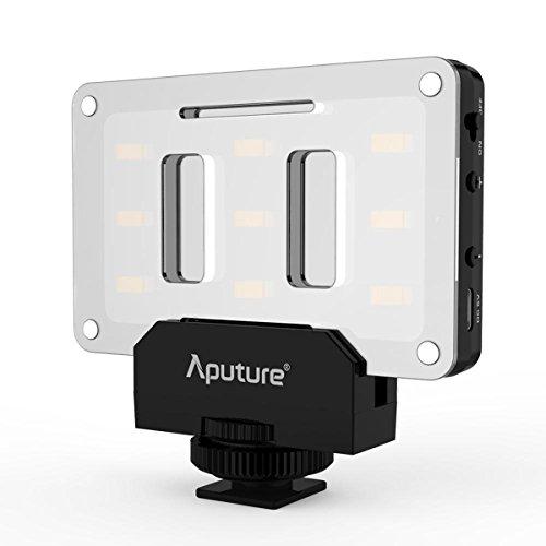 Aputure Amaran AL-M9 LED Video Light Built in Battery Pockable TLCI/CRI 95+ On-camera Fill Light 9pcs SMD Lighting for DSLR Camera by Aputure
