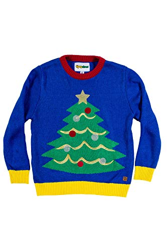 Tipsy Elves Baby Christmas Tree Ugly Christmas Sweater - Infant Ugly Sweater: 6-12M Blue