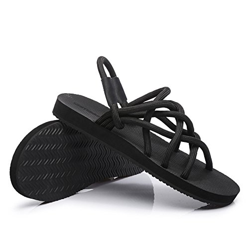 Malla Correas Zapatillas 37 Black De Sandalias Respirables Black para con Hogar GUANG El para XING 36 Antideslizantes Puntera Sandalias Parejas Y vFg8Ww