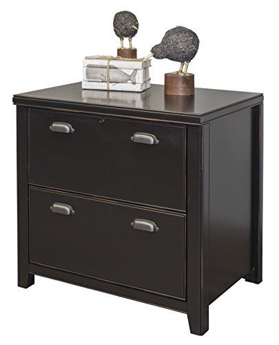 Martin Furniture Tribeca Loft Black 2-Drawer Lateral File Cabinet - Fully Assembled Loft Style Furniture