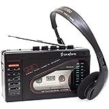 Broksonic TSG-45 Walkman AM/FM Stereo Cassette Recorder with Dynamic Stereo Headphones