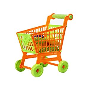 kids children mini shopping cart with full grocery food pretend play and learn toy. Black Bedroom Furniture Sets. Home Design Ideas