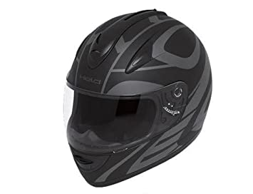 Casco integral Held Darcon, color negro y gris, mate, talla XL