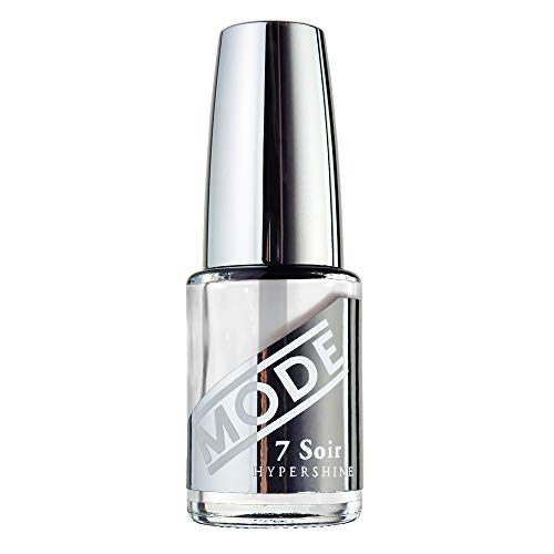 MODE Nail Lacquer - HYPERSHINE, TOP-COAT, Ultra High Gloss, Wet Gel Like Shine, Ultra Fast Dry, Topcoat Clear Nail Polish, Chip Resistant, UV Filter, Made in Beautiful USA/Vegan/Cruelty Free .50 fl oz