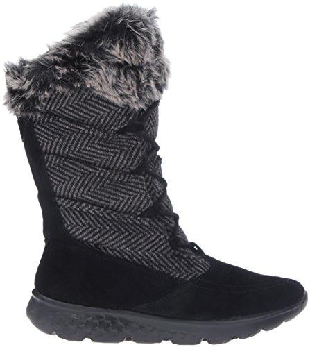 Skechers Performance Botas de invierno 400-Glaciales para mujer, negro