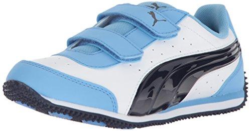 tup Power Velcro Kids Sneaker, White Peacoat, 7 M US Toddler ()