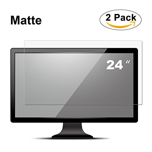 "Anti Glare(Matte) Screen Protector, FORITO 24 Inch Widescreen Computer Monitor Screen Protector for 24"" Dell/Asus/Acer/ViewSonic/Samsung/Aoc/HP Display 16:9 (Not Gray Color Screen Protector)"