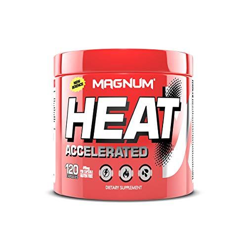 Magnum Nutraceuticals Heat Accelerated - 120 Capsules - Thermogenic Fat Burner - High Stimulant - Maximum Energy & Focus - Accelerated Metabolism - All Natural