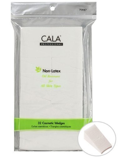 Cala Professional Non-Latex Cosmetic Wedges, For All Skin Types, 32 Count, (Pack of 3)