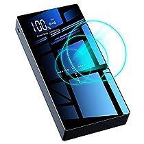 モバイルバッテリー 大容量 24000mAh 無線と有線両用 ワ...