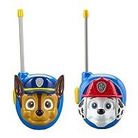 Nuevo PAW Patrol Walkie Talkies - Juego de 2 niños Walkie Talkies Chase y Marshall - Excelente Walkie Talkies para niños pequeños
