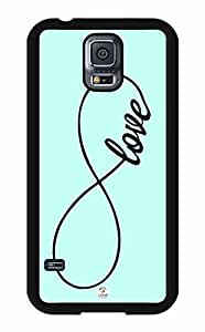 iZERCASE Love Infinity RUBBER Samsung Galaxy S5 Case - Fits Samsung Galaxy S5 T-Mobile, AT&T, Sprint, Verizon and International