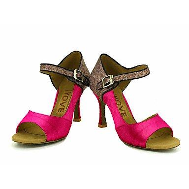 Amarillo Zapatos Blanco Rojo de Azul baile Rosa Salsa Latino Personalizables almond Personalizado Morado Negro Tacón w44qrI