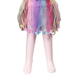 Wrapables Party Time Cotton Tights for Girls (Set of 3), 3-4 Years