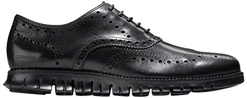 Cole Haan Men's Zerogrand Wing OX Leather Oxford, Black Closed Hole/Black, 10 Medium (Cole Haan Men Shoes)