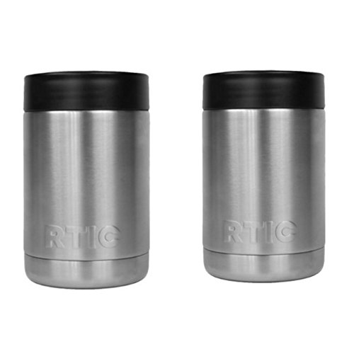 Stainless Steel Can Cooler ~ Rtic stainless steel coozie can cooler oz set of