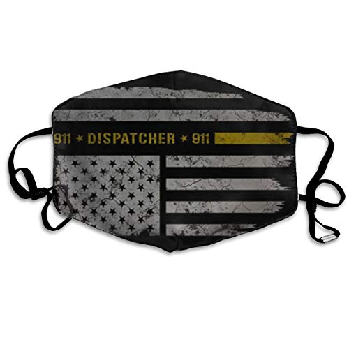911 Dispatcher Thin Gold Line Adult Printing Protective Fashion Air Mask | Face Mask | Anti Pollution Dust Mask | Washable And Reusable