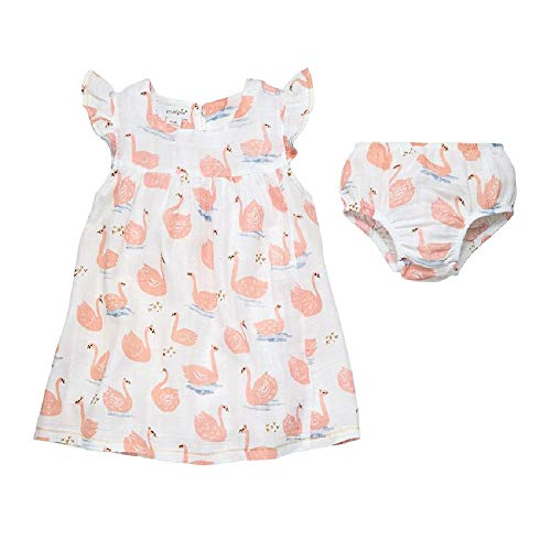 Mud Pie Baby Girl's Muslin Swan Dress (Infant/Toddler) Pink 3T (Toddler) (Mud Pie Dresses Girls 3t)