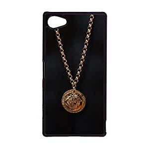 Versace Logo Phone Case Snap on Sony Xperia Z5 Compact Popular Awesome Universal Cover Case Luxury Versace Mark Back Cover