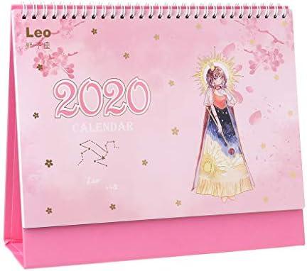 Calendario de escritorio, 2020, año cerezo, flor, constelación ...