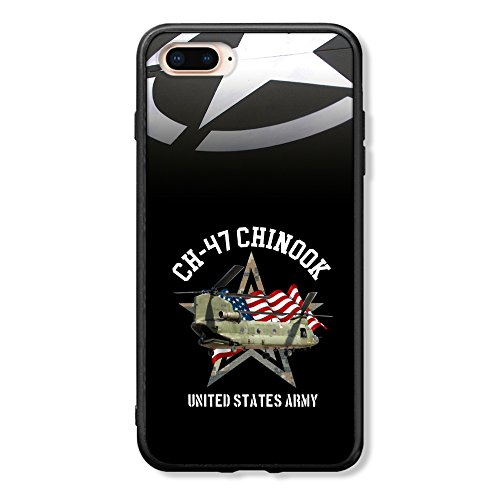 NIWAHO-iphonecases Funny Army Lovers Gifts - iPhone 8 Plus Case with U.S. Army CH-47 Chinook,Rubber ()