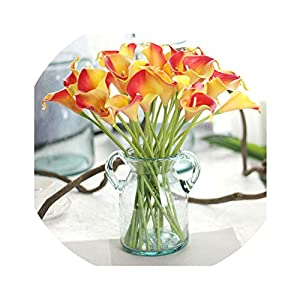 Zalin 6 PC Artificial Touch Lily Fake Flower Wedding Home Decor Bouquet Artificial Wedding Flowers 113