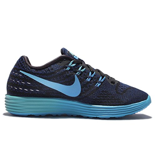 Nike Womens Wmns Lunartempo 2, Nero / Blu Basso-profondo Blu Royal Bagliore, 8 Us