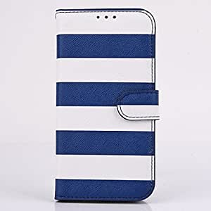 ZL Rainbow Stripe PU Leather Full Body Case with Stand for Samsung Galaxy S6 Edge(Assorted Colors) , Purple
