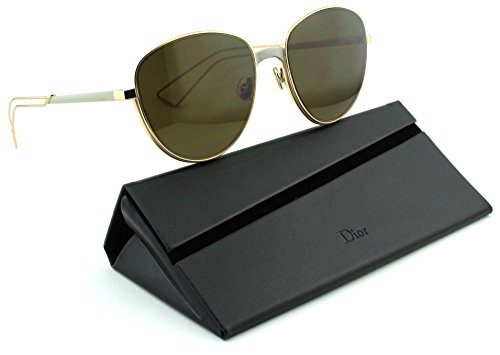 Dior Ultra Women Metal Round Sunglasses (Matte Gray Gold Frame, Brown Lens - Dior Sunglasses Sale