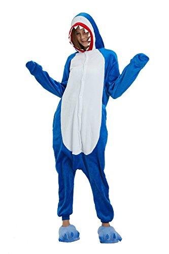 710bb875e yaode Adult Unicorn Pajamas Cosplay Onesie Halloween Christmas Animal  Pajamas (Shark, S)