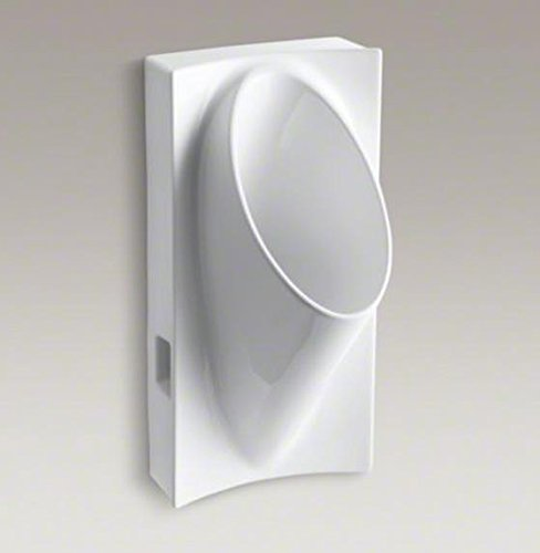 Kohler Steward Wall-Mount Waterless Urinal, White