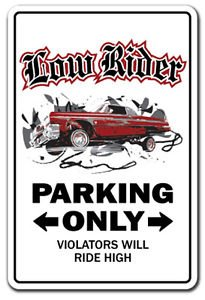LOWRIDER Sign Decal low rider rims car parking truck gift Chicano custom (Cars For Custom Rims)
