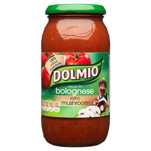 Dolmio salsa de Bolognese extra 500g de setas (Pack de 6 x 500g)