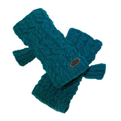 Turtle Fur Womens Nepal Mika Fingerless Mittens, Hand Knit Wool