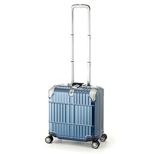スーツケース 国内線機内持込可 | A.L.I (アジアラゲージ) departure (ディパーチャー) HD-509-16 フレーム B06Y4RM7N5 シャイニングアイスブルー シャイニングアイスブルー