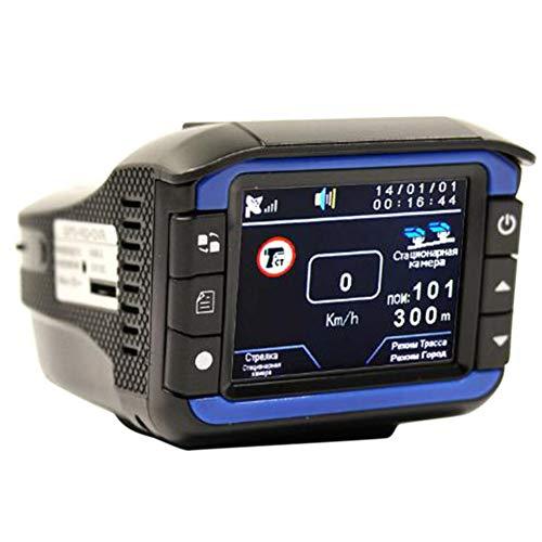 Spachy 2in1 HD Car Hidden DVR Recorder Video, Car Dash Cam Camera Laser Radar Speed Detector Wide Angle Car Driving Recorder DVR(Black)