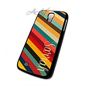 Colorful Stripes Pattern Galaxy S4 case / Samsung Galaxy S4 case / Colorful Stripes Galaxy S4 Case - 4G AArt #TM35 -AT&T, Verizon etc..